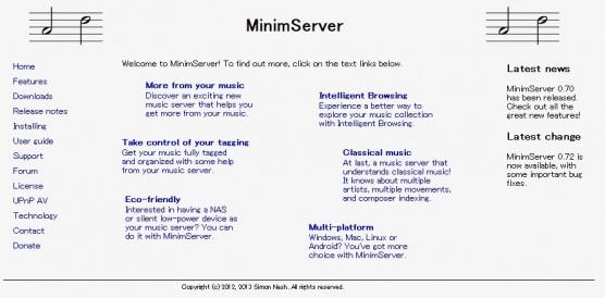MinimServerトップページ